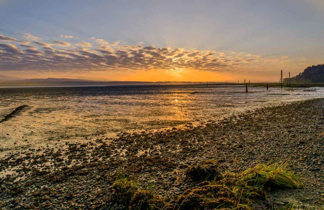 The beach at English Boom at sunrise