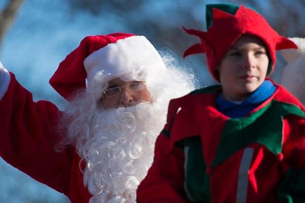 Santa and Elf parade in Langley.