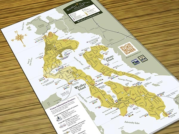 Map Of Whidbey And Camano Islands Whidbey And Camano Islands
