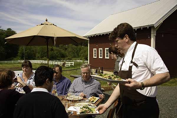 the orchard kitchen takes it outside for a special dinner with a view of the ebb tide produce farm join farmer blake mennella at 4 pm for a tour of the - Orchard Kitchen