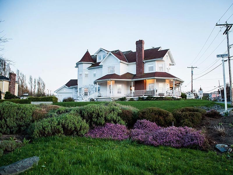 The classically style of an old victorian inn is evident in the Anchorage Inn Bed and Breakfast