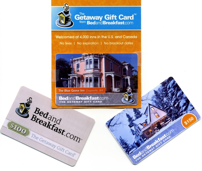 Examples of Getaway Gift Cards