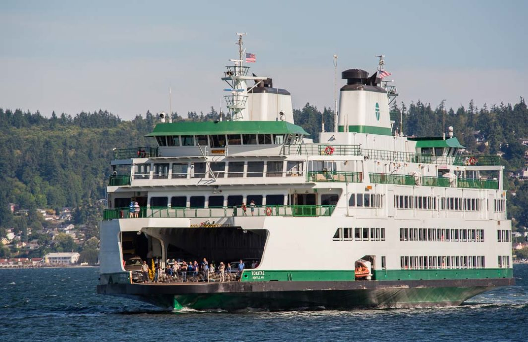 The ferry Tokitae heading to Whidbey Island
