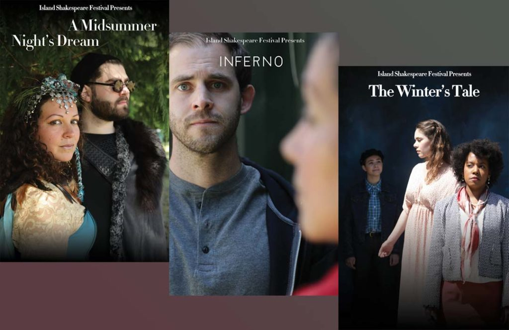 Posters for the 3 plays of 2019