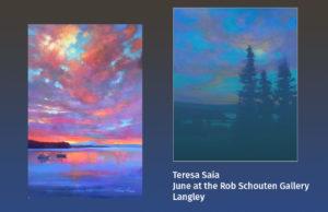 Two paintings by artist Teresa Saia