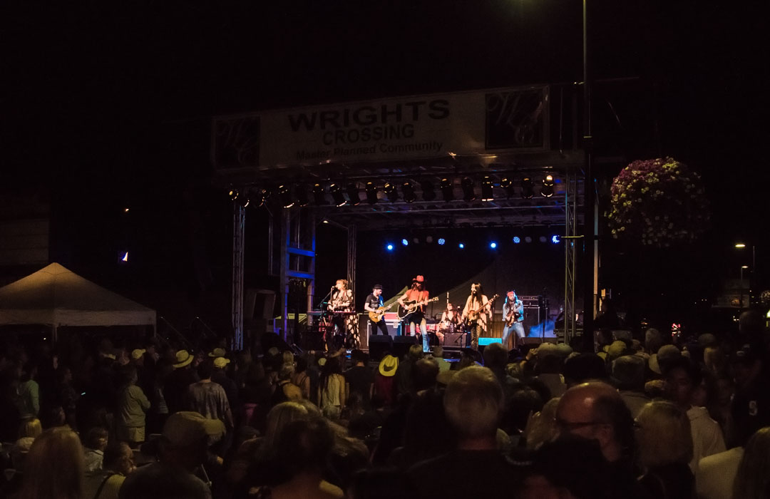 The fun lasts well into the night at The Oak Harbor Music Festival.