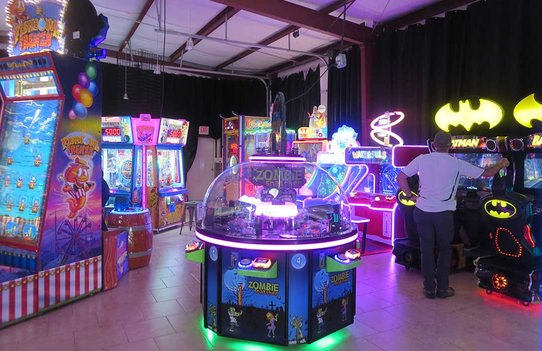 Arcade games at the Blue Fox Drive In