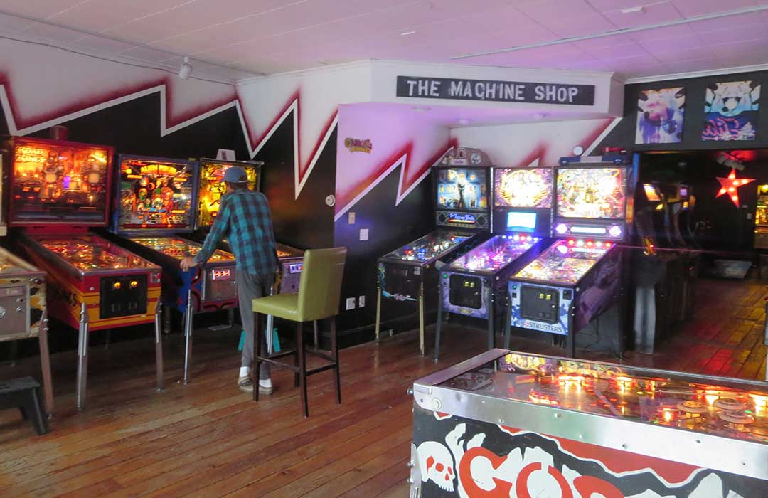 Pinball Machines at the Machine Shop