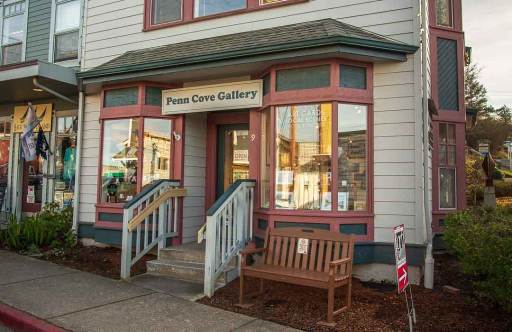 The front entrance to the Penn Cove Gallery.