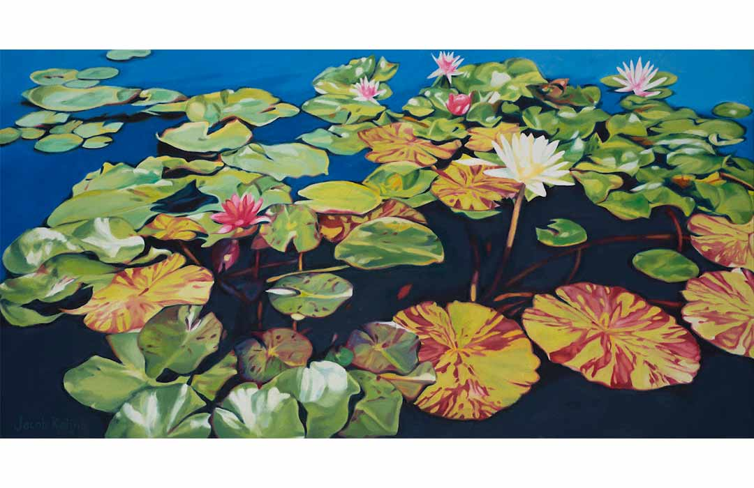 Painting of Plants gowing in a pond