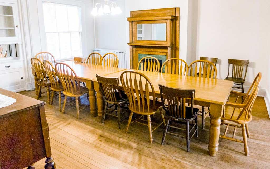 Alumni House Dining Room