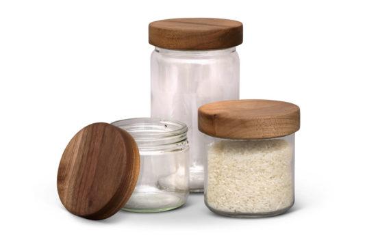 Turnco Jars with Walnut Lids 1 552x345