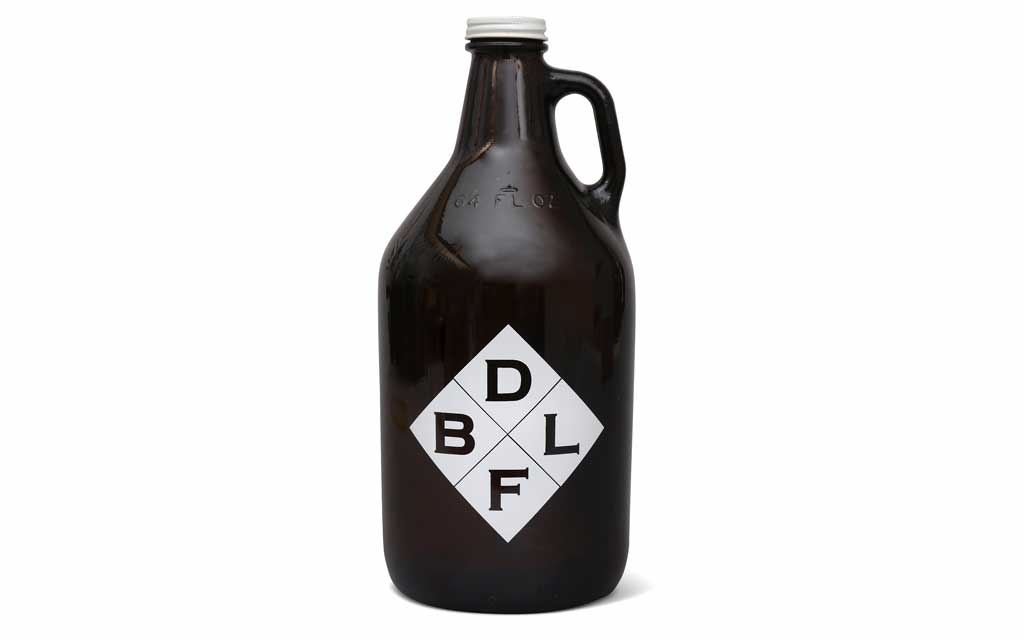 Double Bluff Brewing Growler